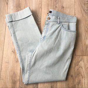 EUC Lafayette 148 NY stretchy denim cuffed pants